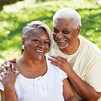 Photo of a couple smiling. Link to Life Stage Gift Planner Ages 60-70 Situations.