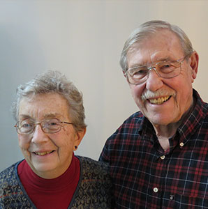 "Photo of Rev. Margaret C. ""Peg"" Miller and Rev. James H. Miller. Link to their story."